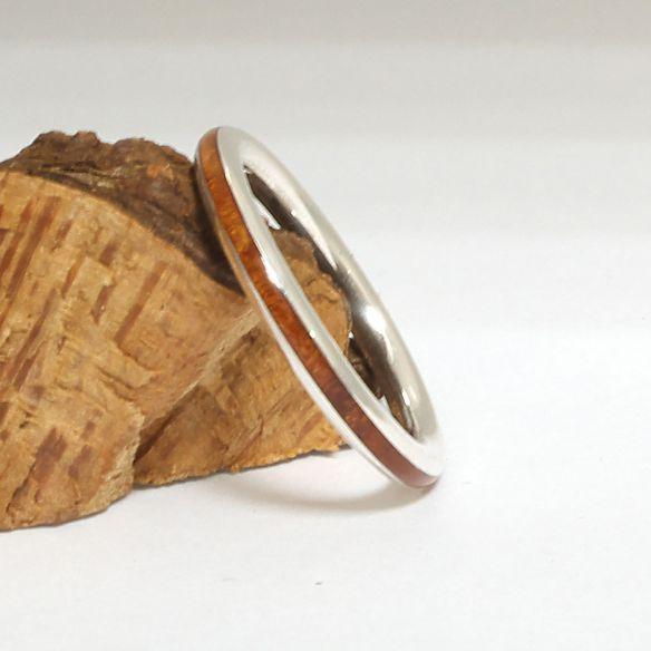 Ringe minimal Alliance Silber und Heideholz 120,00 € Viademonte Jewelry