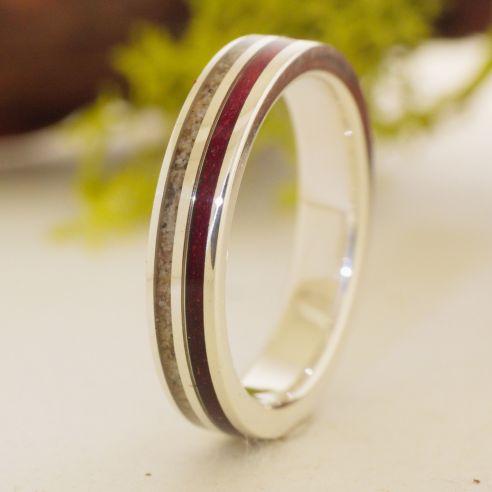 Ringe mit Sand Amaranth Holz Ringsand und Silber 150,00 € Viademonte Jewelry