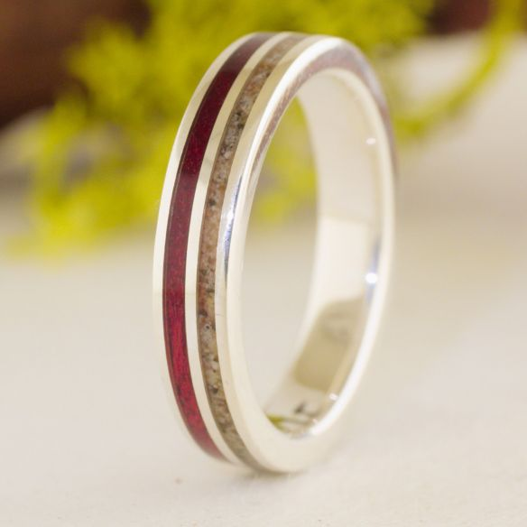 Sand rings Sand and Purple heart silver ring 150,00 € Viademonte Jewelry