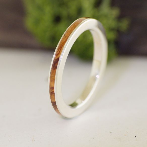 Stackable rings Olive wood sterling silver ring 120,00 € Viademonte Jewelry