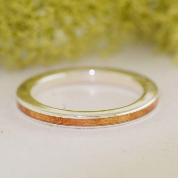 Anillos minimal Anillo de plata de ley y madera de brezo 135,00€ Viademonte Jewelry
