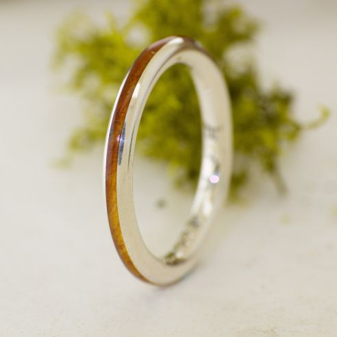Stackable rings Silver ring thin and juniper wood 108,00€ Viademonte Jewelry