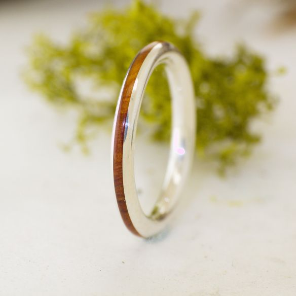 Stackable rings Silver ring thin and juniper wood 135,00 € Viademonte Jewelry