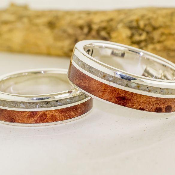 Couples de bagues Viademonte Jewelry argent, sable et cerise Viademonte Jewelry € Viademonte Jewelry