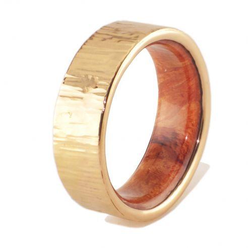 Alianzas con madera y oro Oro amarillo y madera de brezo en el interior 545,00€ Viademonte Jewelry