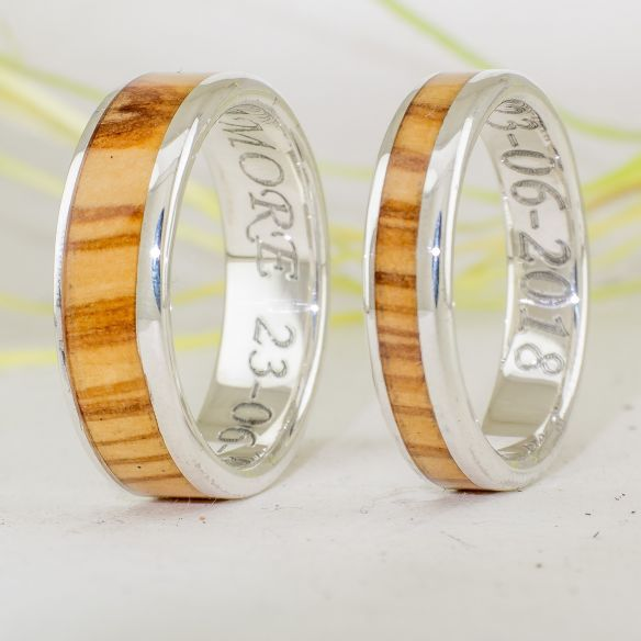 Ring sets Set silver ring made with olive wood 283,50 € Viademonte Jewelry