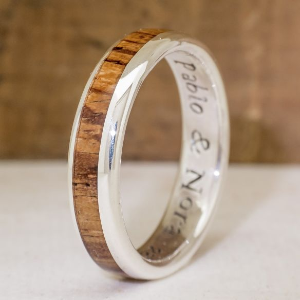 Silver wood rings Silver ring and zebrano wood 155,00€ Viademonte Jewelry