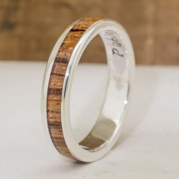 Silver wood rings Silver ring and zebrano wood 140,00 € Viademonte Jewelry