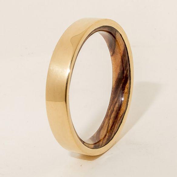 Alleanze con legno e oro oro 18k e Viademonte Jewelry legno d'ulivo all'interno € 490,00 Viademonte Jewelry