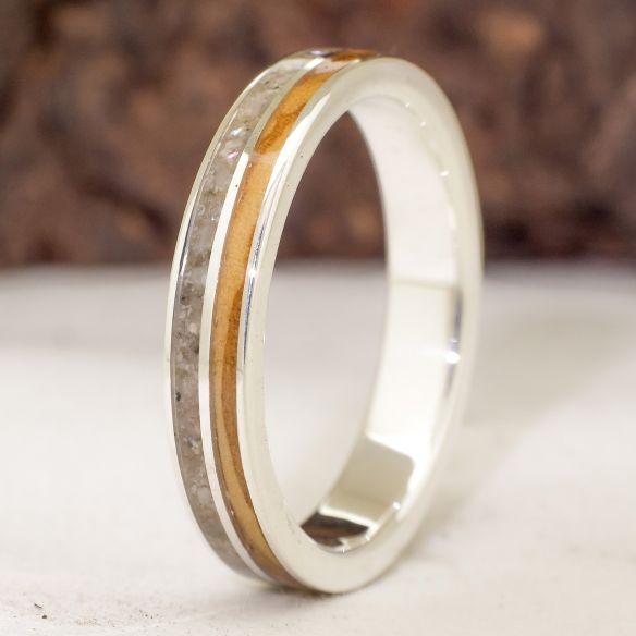 Ringe mit Sand Viademonte Jewelry Sterlingsilber, Sand und Olivenbaum € 150,00 Viademonte Jewelry