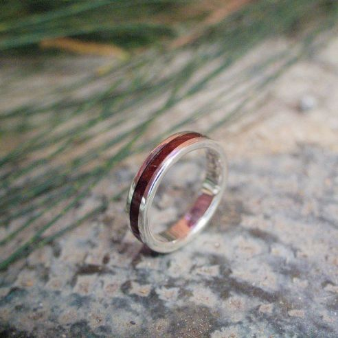 Silver wood rings Walnut wood and silver ring 155,00 € Viademonte Jewelry