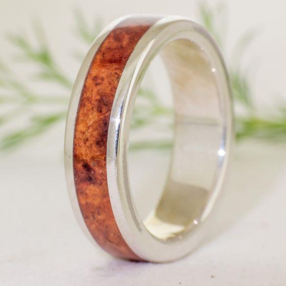 Anells amb fusta i plata Anell plata i fusta de Amboyna 150,00 € Viademonte Jewelry