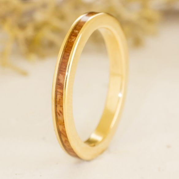 Bagues Minimal Viademonte Jewelry or et bois de chiné Viademonte Jewelry € Viademonte Jewelry