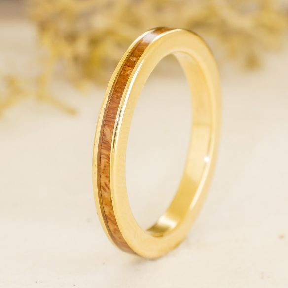 Stackable rings Briar wood and yellow gold ring 18k 470,00€ Viademonte Jewelry