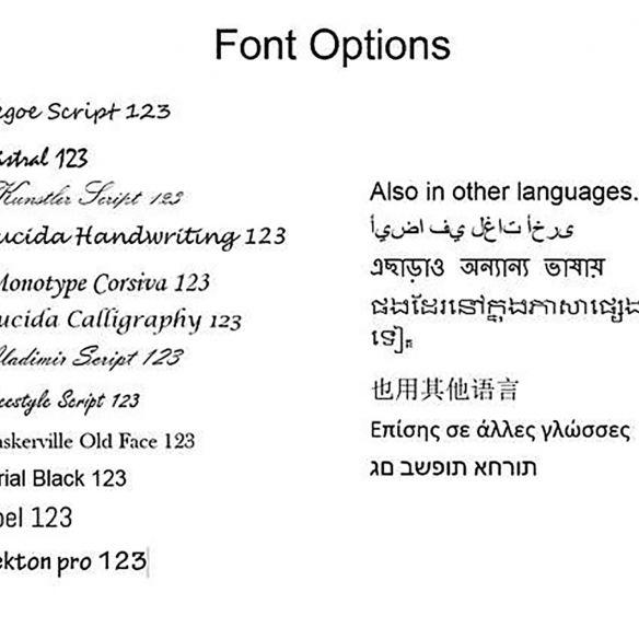 Engraved text & fingerprint