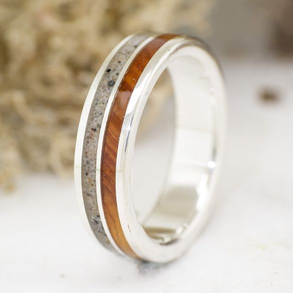 Sand rings Sand and juniper sterling silver ring 120,00€ Viademonte Jewelry