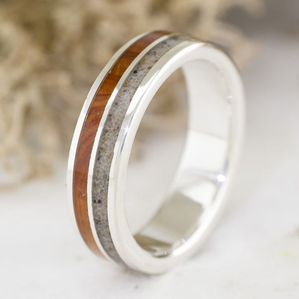 Sand rings Sand and juniper sterling silver ring 165,00 € Viademonte Jewelry