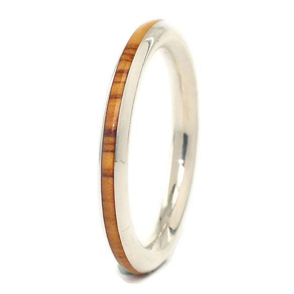 Anelli minimal Viademonte Jewelry argento 925 e legno d'ulivo € 96,00 Viademonte Jewelry