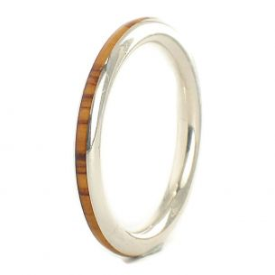 Stackable rings Thin sterling silver ring and olive 135,00€ Viademonte Jewelry