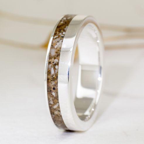 Bagues avec sable Bague en argent avec sable Viademonte Jewelry € Viademonte Jewelry