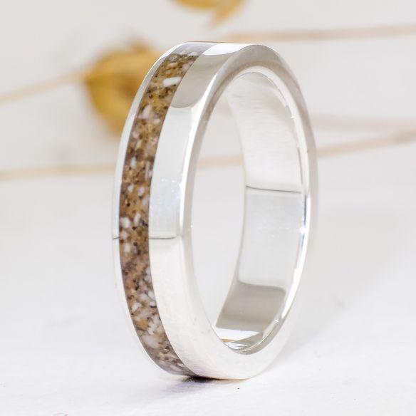 Anelli con sabbia Anello in argento con sabbia € Viademonte Jewelry