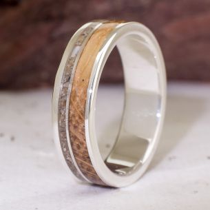 Sand rings Silver ring with sand and Oak wood 185,00 € Viademonte Jewelry