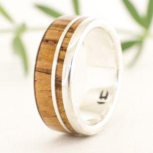 Silver wood rings Silver ring & zebra wood 175,00€ Viademonte Jewelry