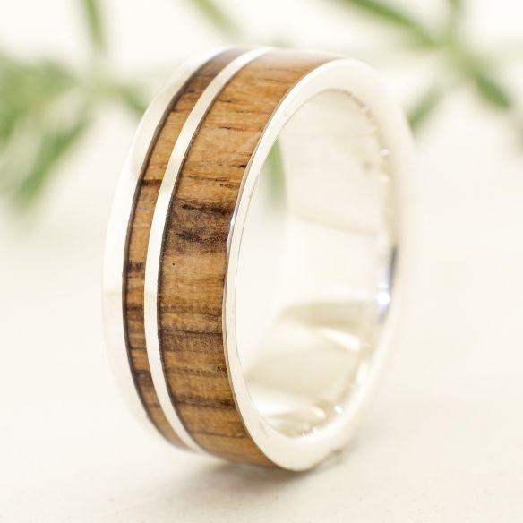 Ringe mit Holz und Silber Viademonte Jewelry aus Viademonte Jewelry 160,00 € Viademonte Jewelry