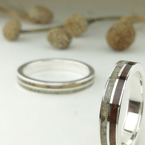 Ring sets Wedding rings sand and cherry-olive wood 150,00€ Viademonte Jewelry