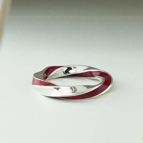 Anillos minimal Anillo infinito de plata de ley y madera de abedul rosa 220,00€ Viademonte Jewelry