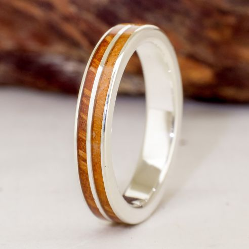 Wedding ring made in silver olive and...