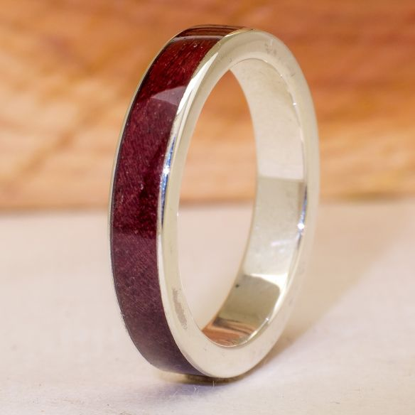 Silver wood rings Ring made in silver and purpleheart wood 130,00€ Viademonte Jewelry