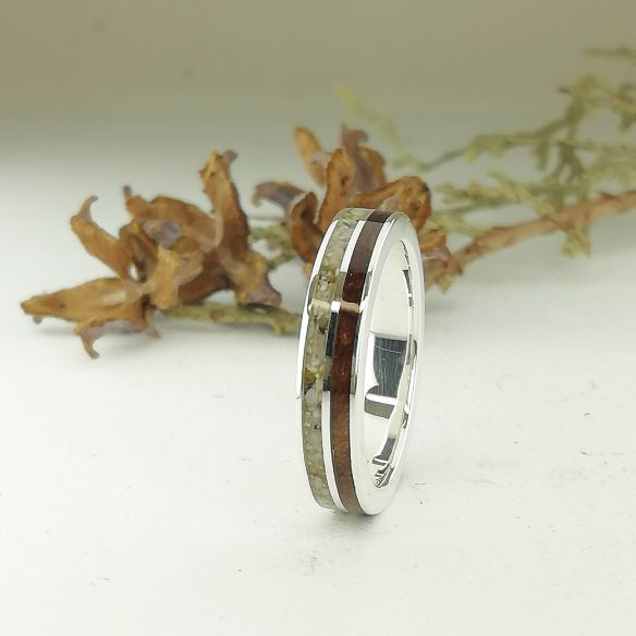 Sand rings Sand and cherry wood silver ring 150,00€ Viademonte Jewelry
