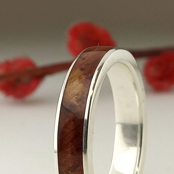 Silver wood rings Wooden silver band - Juniper wood 130,00 € Viademonte Jewelry