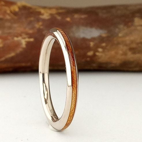 Stackable rings Juniper wood and white gold ring 18k 470,00€ Viademonte Jewelry