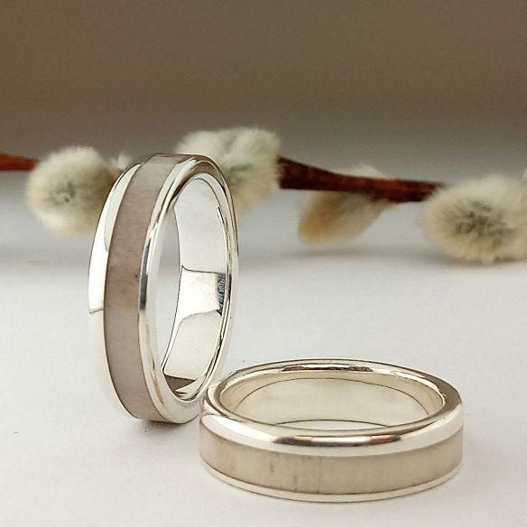 Parejas de anillos Alianzas de plata y asta de reno 300,00€ Viademonte Jewelry