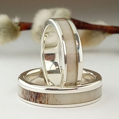 Ring sets Set silver ring and reindeer antler 280,00 € Viademonte Jewelry