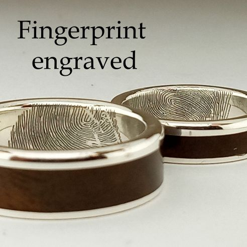 Engraved text & fingerprint