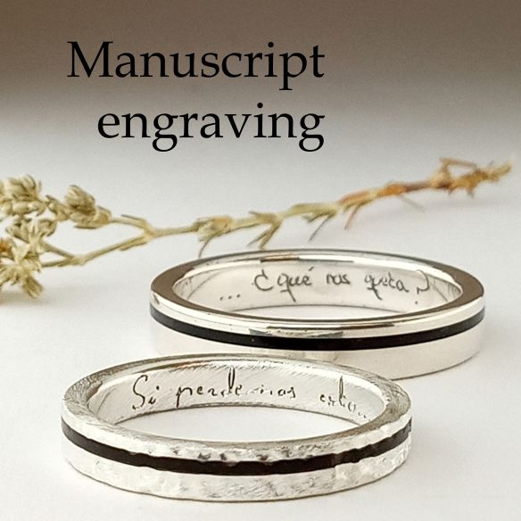 Manuscript engraving for rings