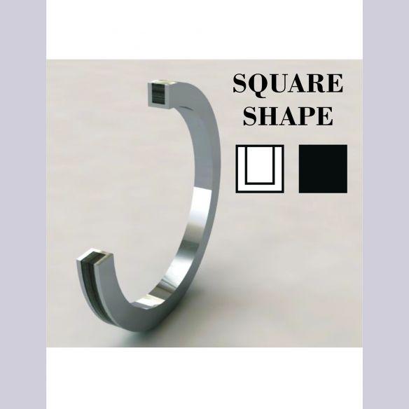 Gemstone Wooden rings Silver ring, diamond and briar root wood 180,00€ Viademonte Jewelry