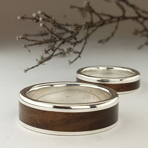 Ring sets Set silver ring and walnut 300,00 € Viademonte Jewelry