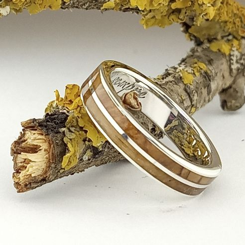 Silver wood rings Ring in silver made with olive and oak 140,00€