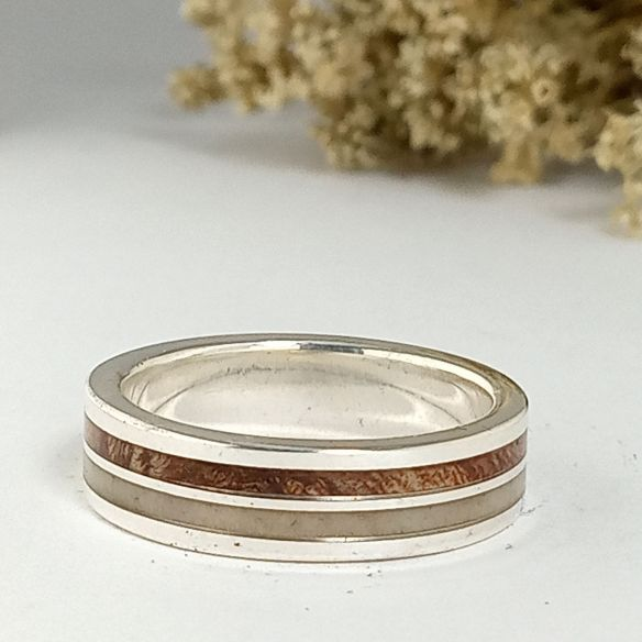Antler and horn rings Silver ring with moose horn and australian blackwood 160,00€ Viademonte Jewelry