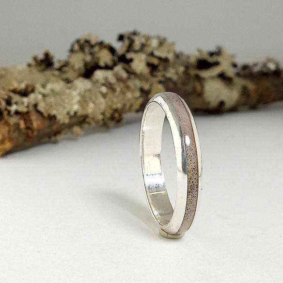 Ringe mit Horn und Horn Original Silberring mit Rentierhorn 130,00 € Viademonte Jewelry