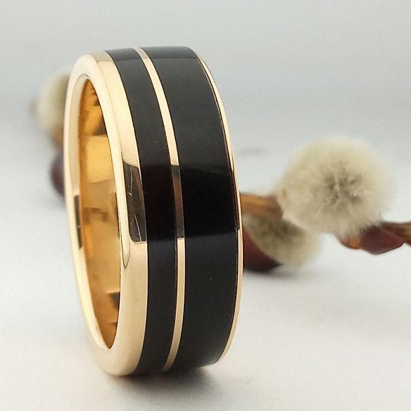 Anells amb fusta i or Anell d'or 18k i fusta de banús 850,00 € Viademonte Jewelry