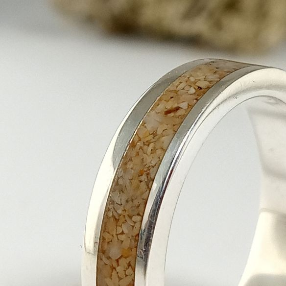 Sand rings Ring made with sand and silver 150,00€ Viademonte Jewelry
