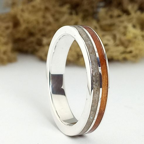 Sand rings Sand and juniper silver ring 150,00 € Viademonte Jewelry