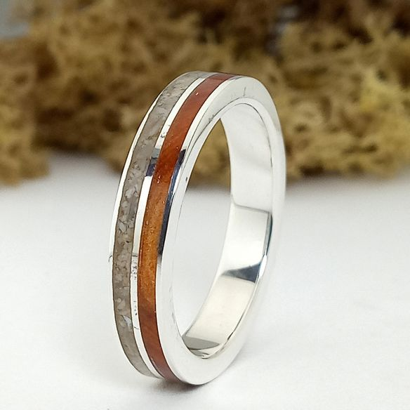 Sand rings Sand and juniper silver ring 160,00€ Viademonte Jewelry