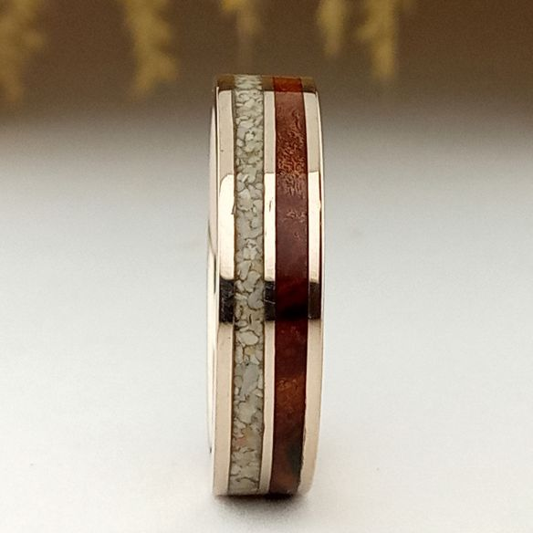 Sand rings White gold, sand and cherry ring 795,00€ Viademonte Jewelry