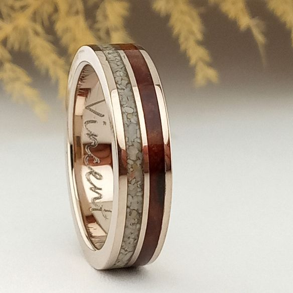 Sand rings White gold, sand and cherry ring 795,00 € Viademonte Jewelry
